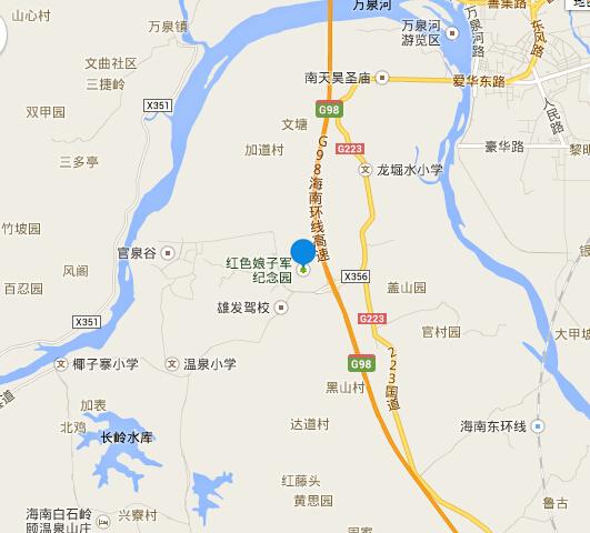 海南省琼海市嘉积镇万石坡东线高速公路官塘入口处