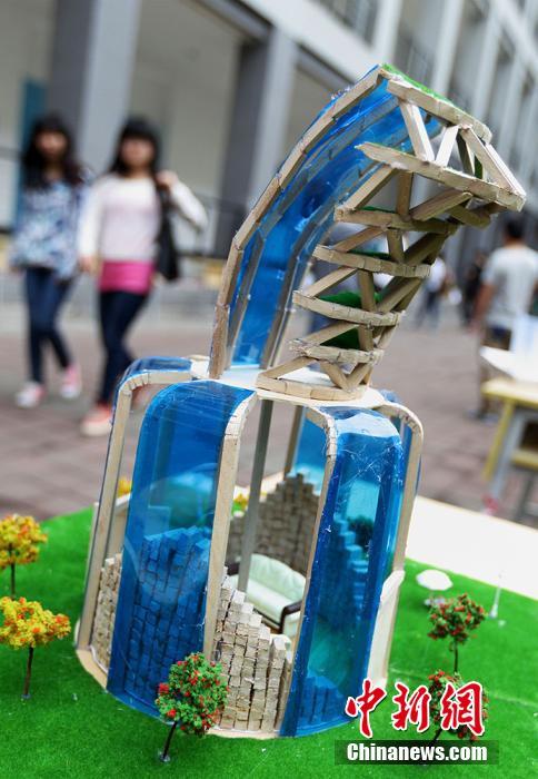 南京举办大学生结构创新竞赛 百件作品尽展创意