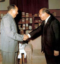 1972年毛泽东初见田中角荣