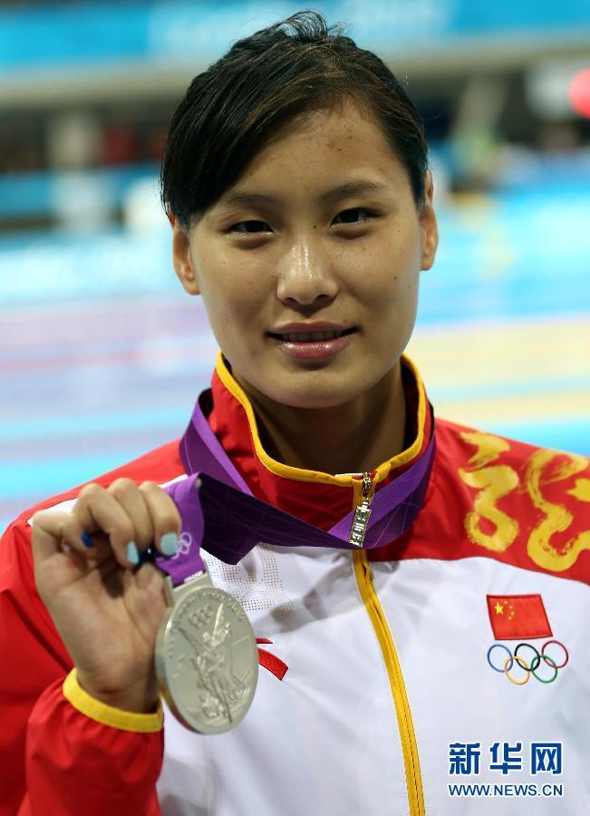 2012年7月29日,在伦敦奥运会女子100米蝶泳决赛中,美国名将沃尔默以55秒98的成绩获得金牌,并打破世界纪录,中国选手陆滢以56秒87的成绩获得一枚银牌。