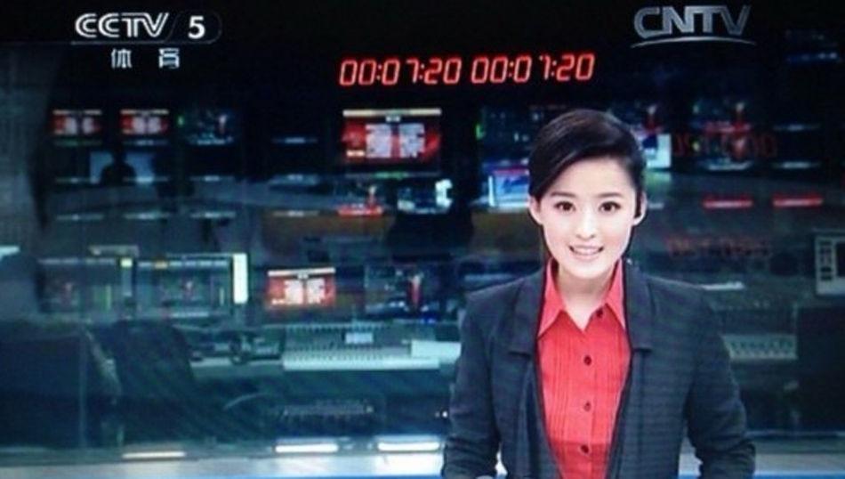 CCTV5美女主持午夜播新闻网友:央视竟让她上