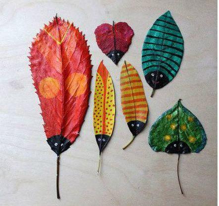 树叶装饰画 装扮家居不可少的彩绘艺术作品图片