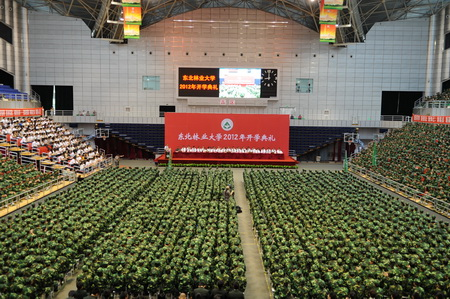 东北林业大学2012年开学典礼隆重举行