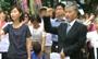 韩民众光复节在日使馆前抗议