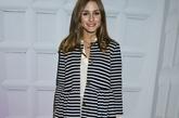 奥利维亚·巴勒莫(Olivia Palermo)格纹休闲外套+大提包,休闲气息浓郁。