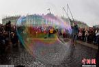 俄罗斯举办泡泡节 带你回到缤纷童年(组图)
