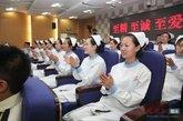 参加仪式的护士代表