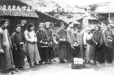 图为1946年6月西康省康属烟毒检查专员查获的一批烟毒人犯。