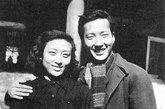 1950年,于是之和夫人李曼宜新婚不久的合照。