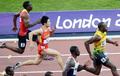 男100米半决赛 苏炳添同场竞技博尔特