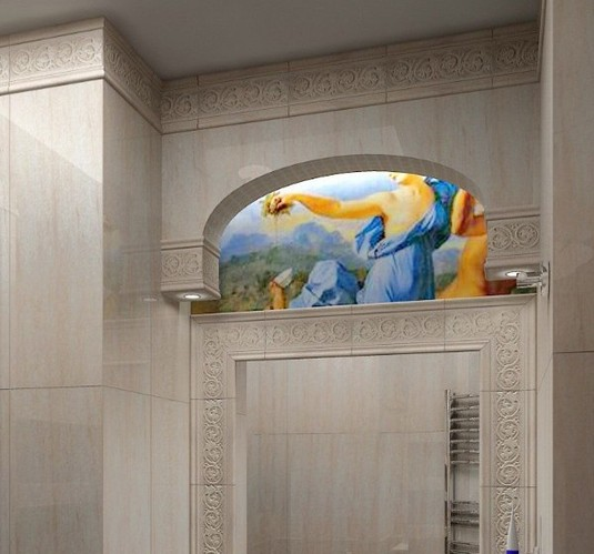 欧式圆弧窗壁龛