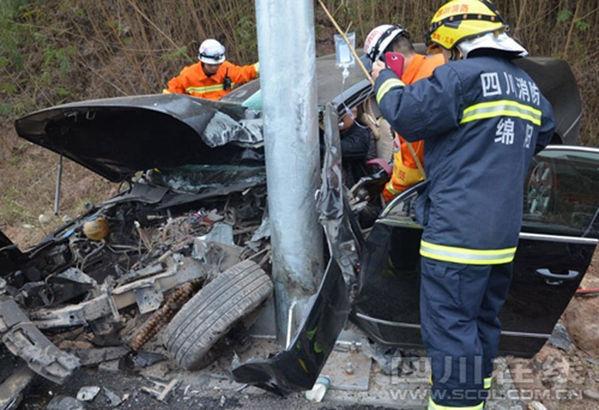 13分,成德南高速101公里绿豆河大桥处发生一起交通事故,一名男
