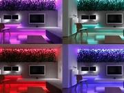 斯洛伐克LED魔幻客厅 小空间里科技感与植物巧妙组合