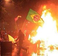 巴西惨败后爆发骚乱