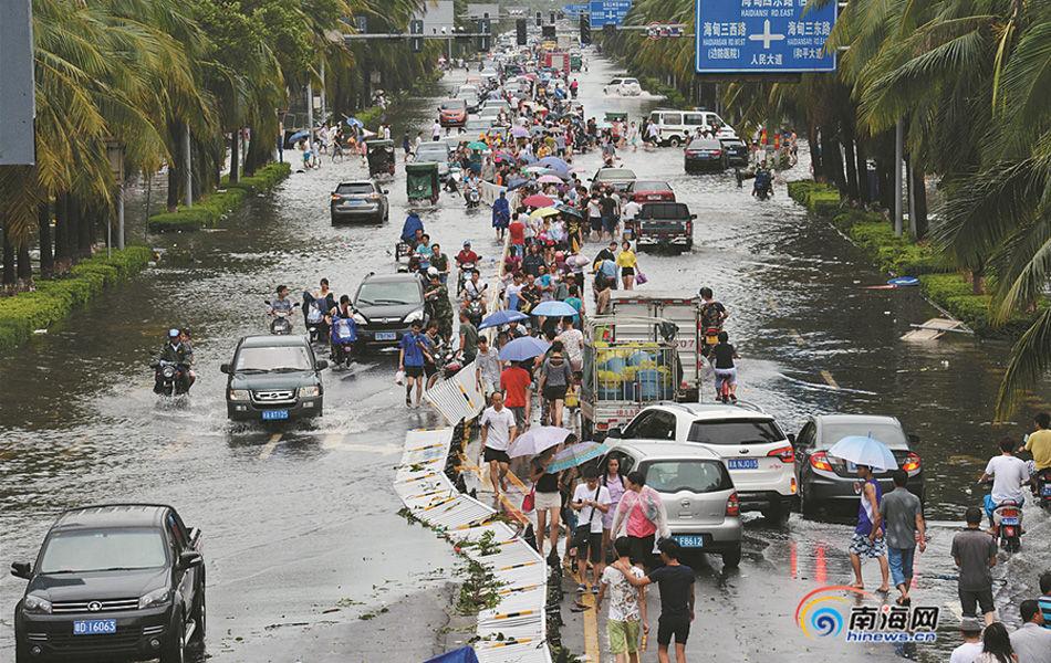 台风 威马逊 过后的海南
