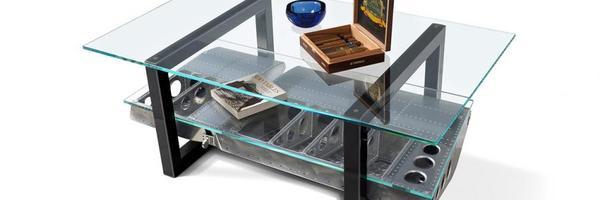 航空迷梦寐以求的家具 波音747引擎办公桌点亮家居