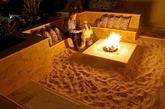 后院里以篝火为中心的海滩(实习编辑:温存)