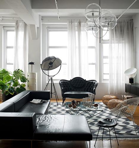纽约曼哈顿清冷感LOFT公寓装修设计 极简中的精致感