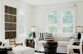 厚实地毯。条纹地毯,让人产生一种视觉延伸感,空间更显宽阔舒适。踩在厚实的地毯上,更易提升生活的幸福感,让人感动于家居生活中的温馨点滴。