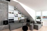 阁楼,一个小小的空间,但是其实是非常划算和实用的一个地方。在中国很多时候是买顶层送阁楼的。如何利用好阁楼可是由很多学问的。阁楼不仅仅是你过来储藏物品,设计的好一样可以用来作为家居的主会场呢。特别是将顶楼和阁楼互相打通之后,成为上下层的复式可以发挥的空间就更大了。(实习编辑:江冬妮)