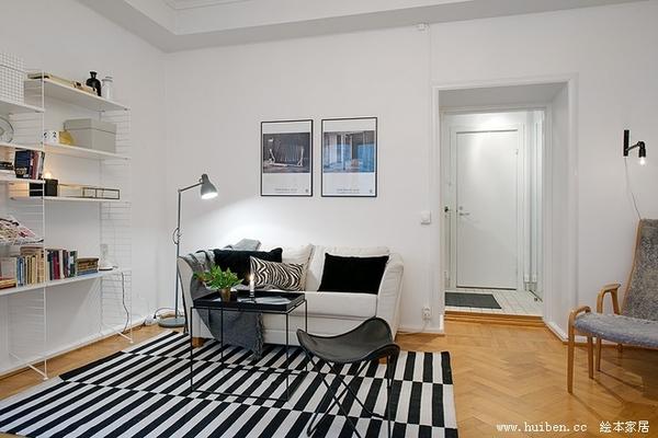 花园中39平米的房子 新北欧迷人一居室惊叹设计