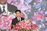 中国家具协会理事长朱长岭致辞。