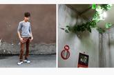 胡麒麟,21岁,My Bobo沙龙。胡麒麟和女朋友租住在一个地下室里,他们特意买了一些假花装饰地下室里阴暗潮湿的天花板。