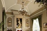 ①浅木色元素 相对于古典风格的英伦风,复古风的色调有淡化的趋势,但仍不减奢华和雕琢。浅木色的装饰,则清新自然,散发着大自然的气息。