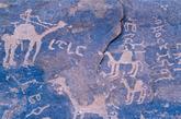 【12】沙特Hail地区的岩石艺术,沙特阿拉伯 Hail地区岩石上的画和碑文记录了1万年前的历史。