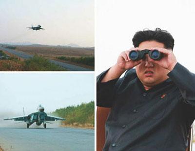 金正恩露面视察空军 携夫人看望亚运运动员