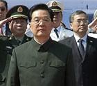 胡锦涛视察中国首艘航母