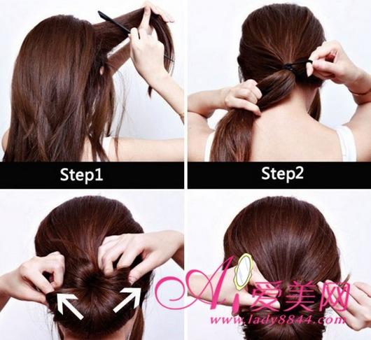 适合参加宴会的发型 来学习盘发造型,爱美网美发分享晚宴盘发发型教程