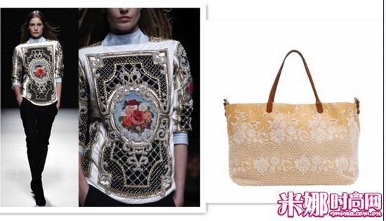 almain与Valentino刺绣手袋-那些年,我们一起追过的潮流元素