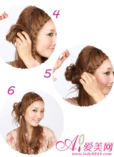 甜美刘海编发教程 小清新发型扎法