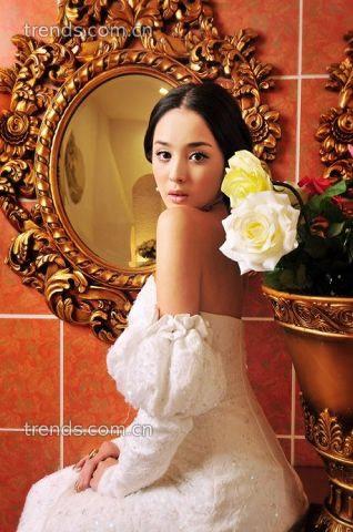 华丽复古宫廷新娘婚纱造型
