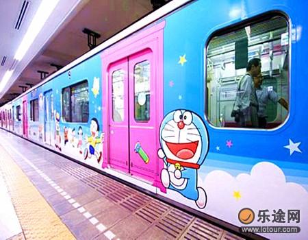 为藤子·F·不二雄博物馆而专门设的卡通列车
