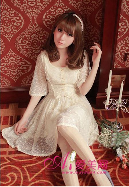 日系搭配:甜美lolita裙