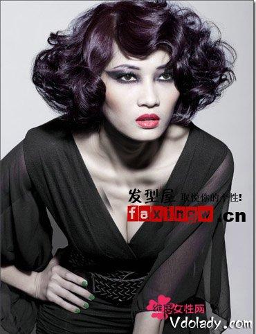 内扣短发烫发时尚优雅 打造知性美感ol发型图片