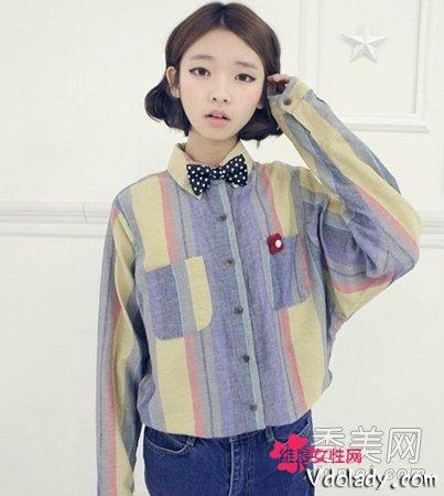 韩国发型中短发型号装嫩卖萌的减龄女生超声波v发型探头武器图片