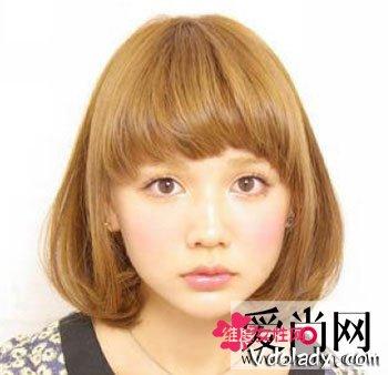 弧形刘海bobo头短发发型 甜美女孩必备