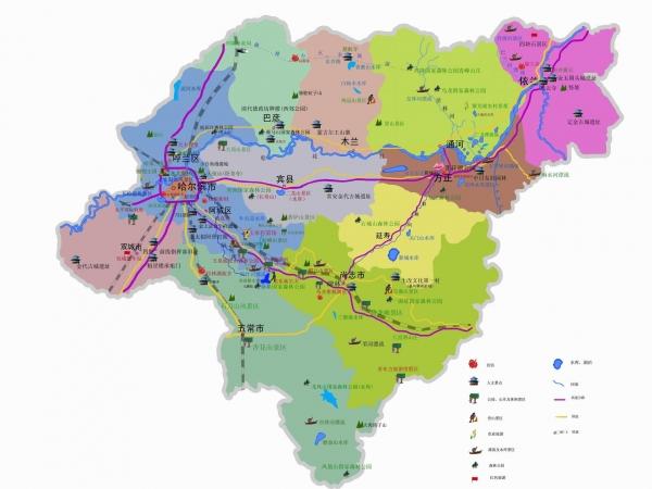 国内游 > 正文  哈尔滨冰雪节出游地图 景区方位交通示意图 哈尔滨市