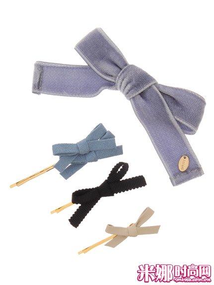 搭配/这组可爱的蝴蝶结发夹,颜色的搭配也恰到好处哦