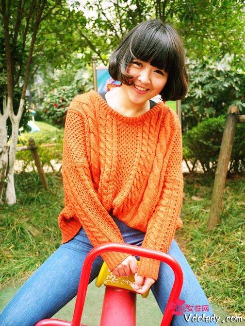 2013最新中性妹波波头学生添淑女a中性发型VS短发活力女图片