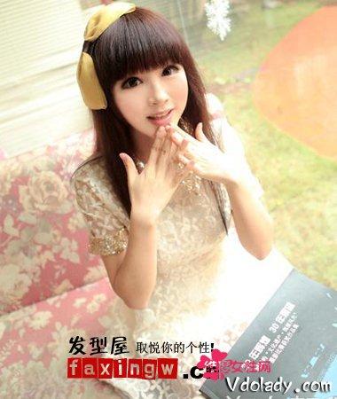 9款齐刘海长直发发型 减龄装嫩扮可爱必备