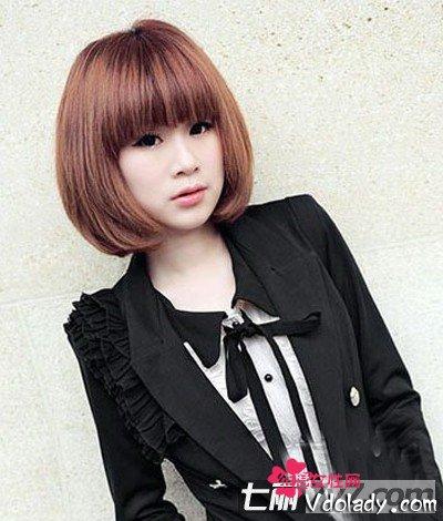 波波头短发打造时尚都是丽人卡通波波头型图片