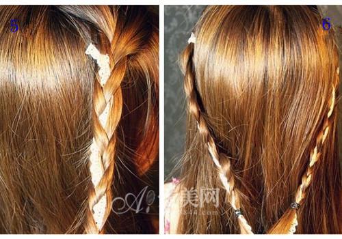 6,两个辫子编好的效果图.图片