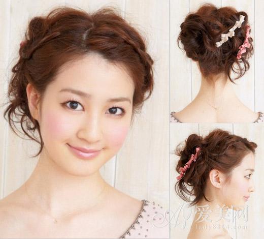 韩式发带扎图解步骤