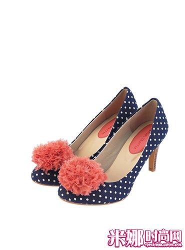 张弛/打造修长双腿大大花朵装点。花朵装饰浅口鞋/ORiental ORiental(...