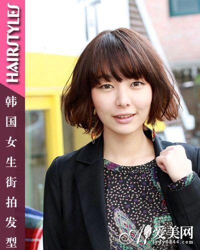 韩国女生街拍发型 甜美潮流美发元素