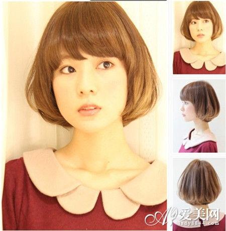 这款波波头利用挑染的发色塑造出层次感,头发发尾向内自然卷曲,形成图片